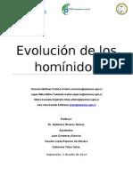 Evolución de los homínidos