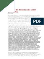 ANÁLISIS DEL DISCURSO-VISIÓN PANORÁMICA