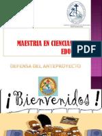 Trabajo Defensa Anteproyecto Maestria Cc Ee Patvalencia Pucese 2013