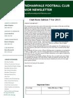 2013 Newsletters Week 7