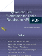 5. Hydrostatic Test Exemptions