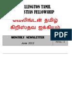 Wellington Tamil Christian Fellowship - June 2013 News