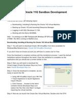 Setting Up an Oracle 11G Sandbox Development Environment