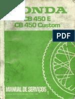 Manual de serviço Honda CB450 e CB450 Custon