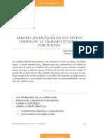 Errores Sintacticos en Los Textos Juridicos Samuel Gonzalez