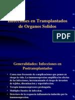 Infecciones en trasplantado de organos sólidos