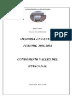 Memoria de Gestión Período 2006-2008