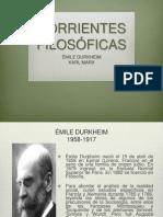 Filosofia Del Derecho Durkheim y Marx