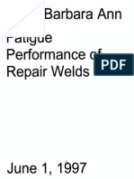Fatigue Performance of Repair Welds