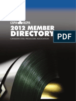 Canadian Steel Producers 2012 Member Directory en Final 8 Nov 2011