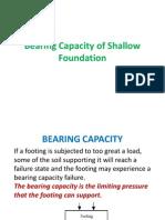 Bearing Capacity of Shallow Foundation