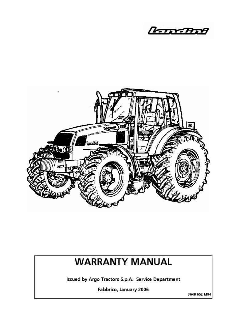 ... Array - manual de garantia manuale landini inglese tractor transmission  rh ...