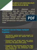 2. Survey Pendahuluan Geologi Dan Geokimia Panasbumi