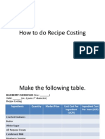 How to Do Recipe Costing