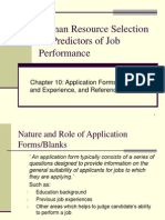 Ch 10 Application Forms, Training and Experience Evaluation