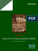 ScoreCard5Yearsof13thNationalAssemblyofPakistan