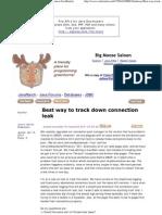 Best Way to Track Down Connection Leak (JDBC Forum at JavaRanch)