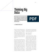 Thinking Big Data