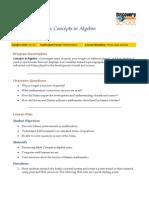 Concepts Algebra