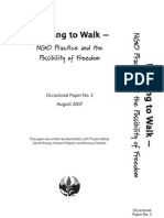 Learning to Walk – NGO Practice and the Possibility of Freedom