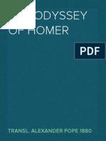 The Odyssey of Homer, Transl. Alexander Pope 1880