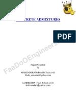 Concrete Admixtures