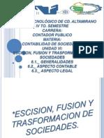 Escision, Fusion y Trasformacion de Sociedades