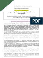 Call for papers _ L'adjectif  - Approches sémantico-pragmatiques et discursives