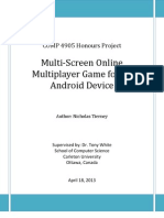 Comp 4905 Honors Project - Multi-Screen Online Multiplayer Game for an Android Device