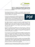 PROPUESTA DE AUMENTO DE CAPITAL CON APORTACIONES NO DINERARIAS A LA JUNTA GENERAL DE ACCIONISTAS 2008
