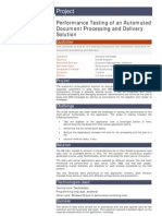 Performance Testing of an Automated Document Processing and Delivery Solution