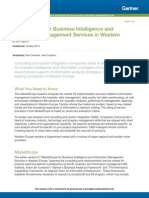 MarketScope for Business Intelligence and Information Management Service...
