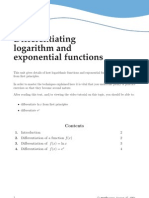 Logarithms and Exponential Differentials