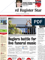 Memorial Day front page layout