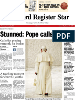 Pope's resignation front page layout