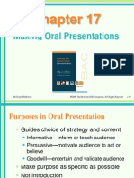 Chapter 17 - Making Oral Presentations