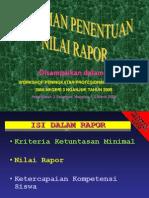 Pedoman Nilai Rapor KTSP SMA 3