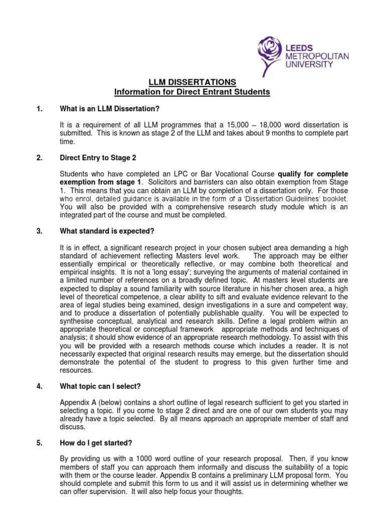 law dissertation proposal