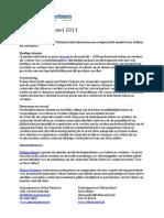 Persbericht Tolken Select 29 Mei 2013