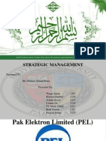 Strategic Management Project of PEL Pakistan