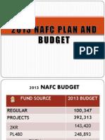 2013 Nafc Plan and Budget