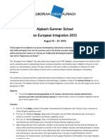Alpbach Summer School 2013