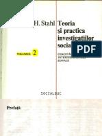 Teoria și practica investigațiilor zonale - H.H. Stahl
