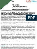 RP Data Nine Rewards Survey of Housing Market Sentiment May 2013