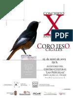 Cartel X Aniversario Coro IESO Cigales © Miguel Segura