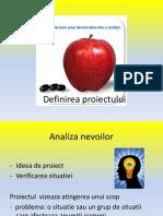 Definirea Proiectului