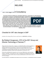Checklist for VAT Rate Changes in SAP _ Tax Management Consultancy