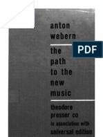 Webern. the Path to the New Music