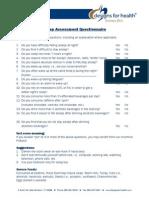 Questionnaire Sleep Assessment