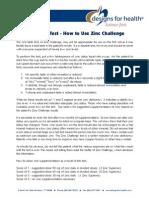 Zinc Challenge
